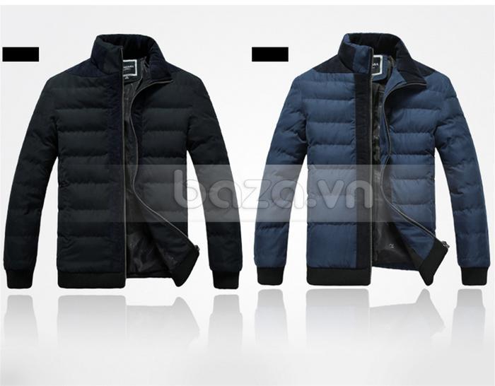 Áo khoác nam No1Dara WT9669 màu đen và xanh