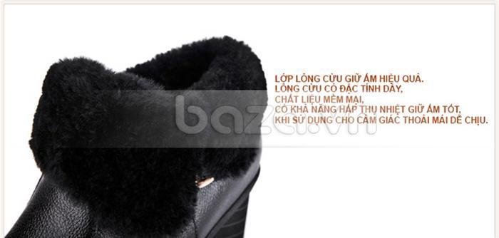 Đôi giày bốt nữ Yiya được lót lông cừu cao cấp, ấm áp, êm chân mà vẫn thoáng khí