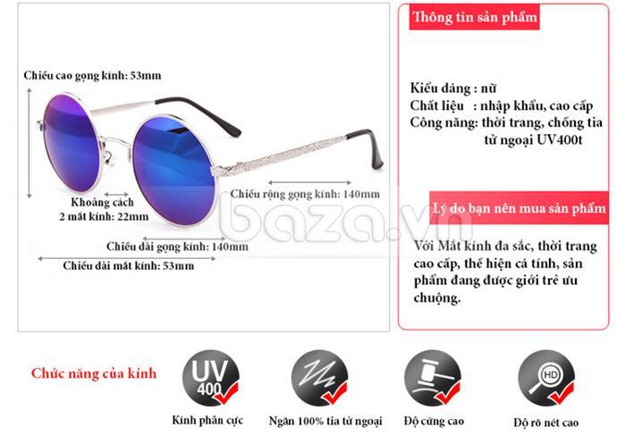 Kính thời trang RBSPACE 9008 - kính mắt cho bạn gái hiện đại