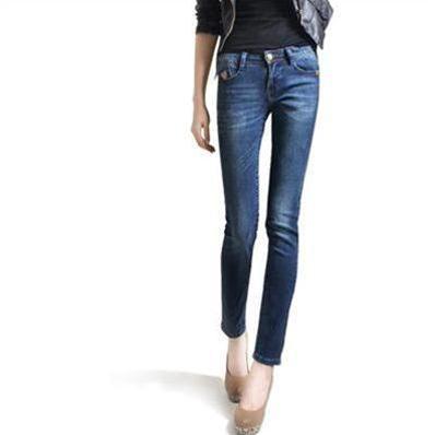 Quần Jeans nữ ống côn Bulkish style Hàn
