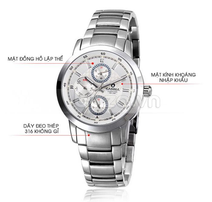 Đồng hồ nam Casima CR5105-S8 đa chức năng