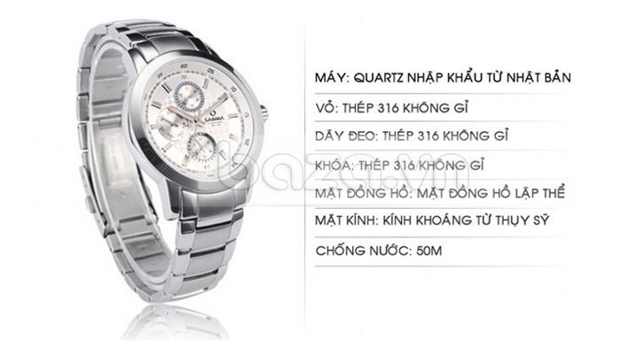 Đồng hồ nam Casima CR5105-S8 màu sắc đẹp mắt