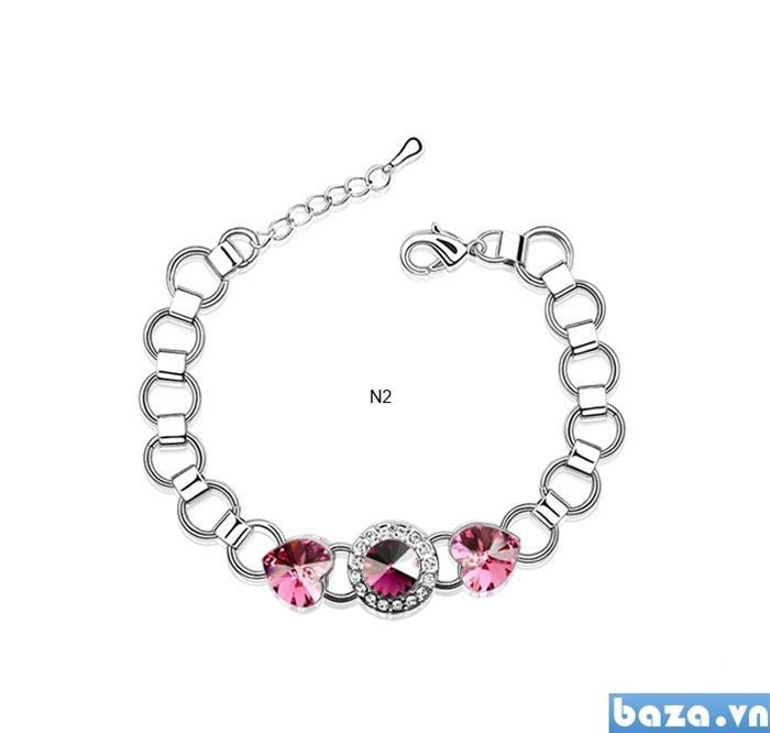 baza.vn: lắc tay ánh sao đá hồng