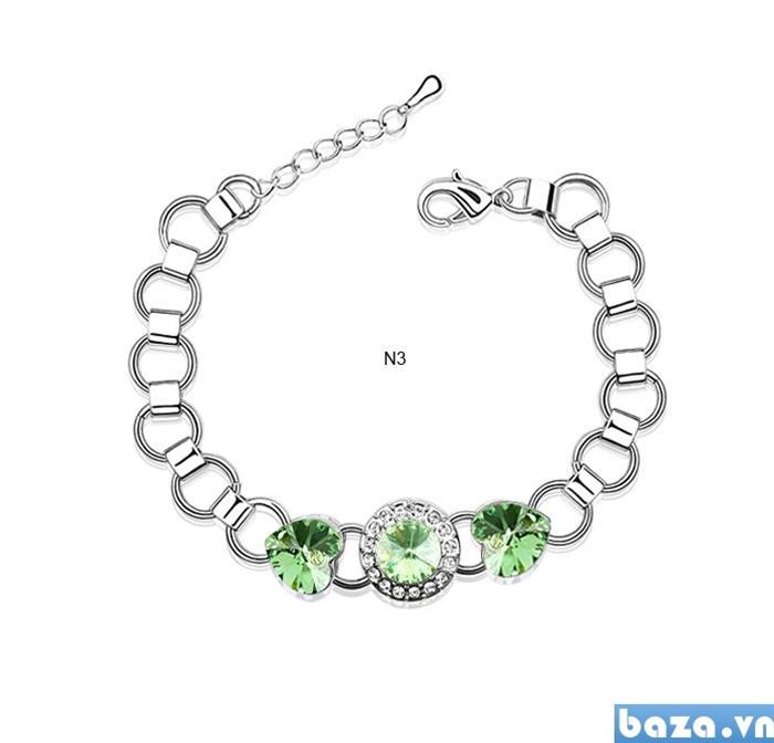 baza.vn: lắc tay ánh sao đá xanh lá