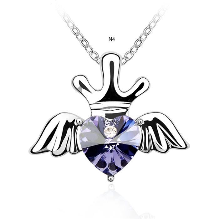 dây chuyền vương miện thiên thần giúp phái nữ duyên dáng như nàng thiên thần