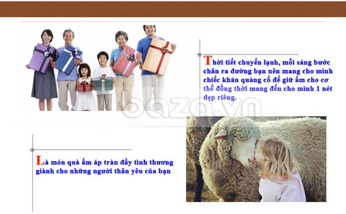 """Phụ kiện thời trang """" Khăn choàng thời trang nữ Antelope Morning """" món quà hữu ích danh cho người thân của bạn"""