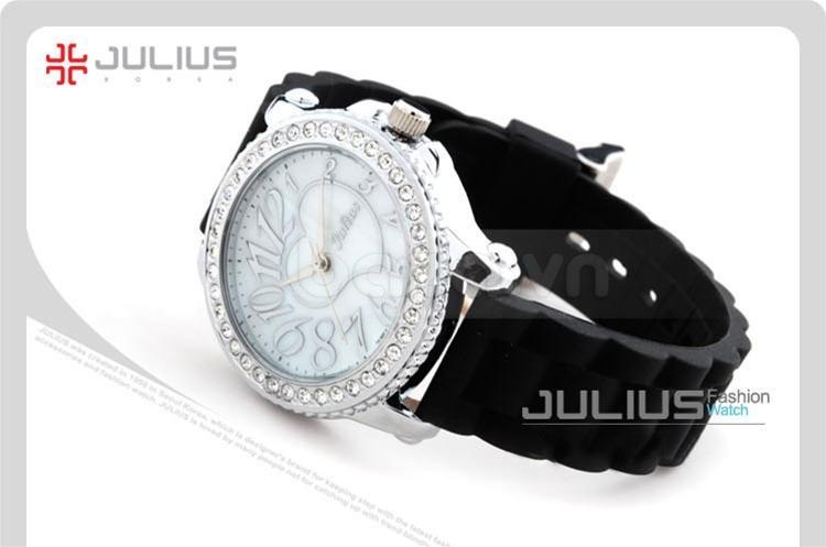 baza.vn:Đồng hồ Julius Hàn Quốc JA560 viền đính đá