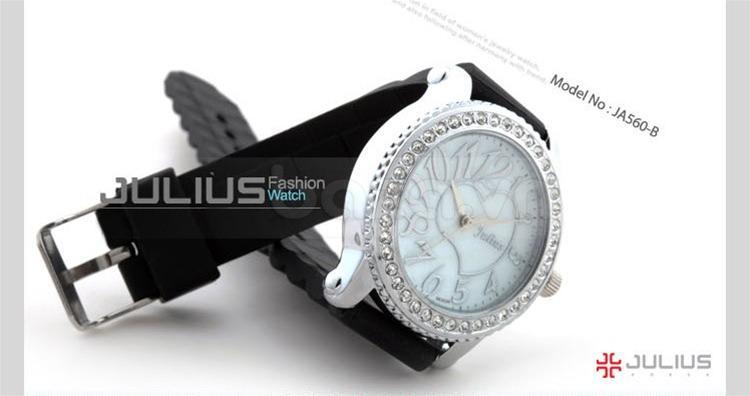 baza.vn:Đồng hồ Julius Hàn Quốc JA560 dây cao su mềm mại
