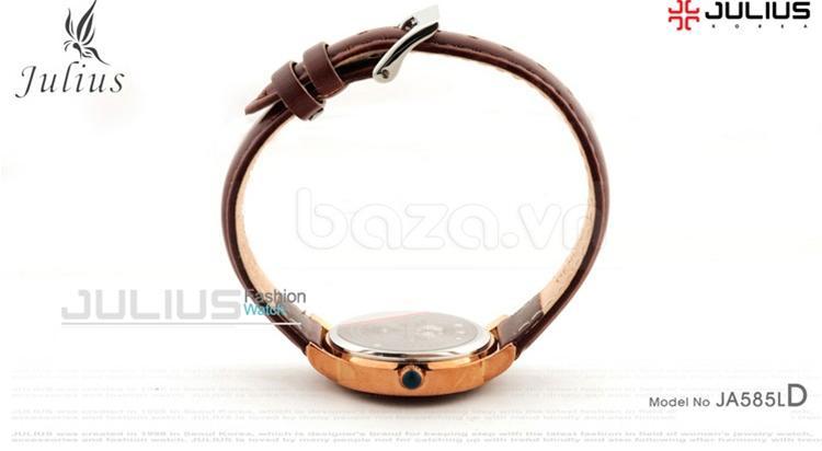 baza.vn: Đồng hồ Julius Mã JA585M khóa gài trên thân dây da tiện dụng