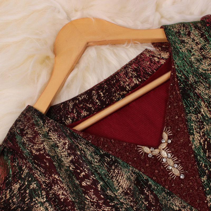 Đầm peplum sequin QIZ phong cách cổ điển