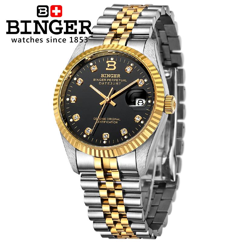 Đồng hồ doanh nhân nam máy cơ tự động Binger