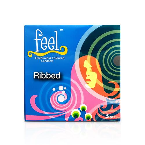 Bao cao su có gân Feel Ribbed - Combo 5 hộp