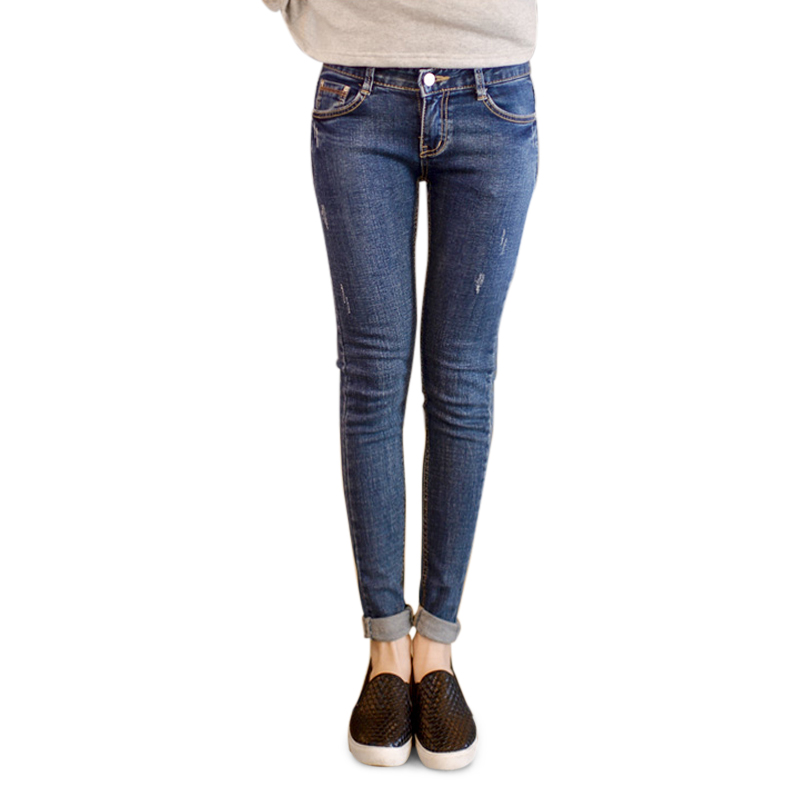 Skinny jeans nữ mài xước hai bên Goditkiss
