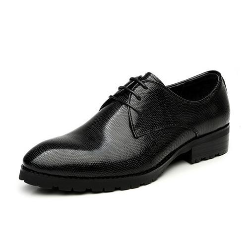 Giày da nam VANGOSEDUN 370595 kẻ ô nhỏ sang trọng