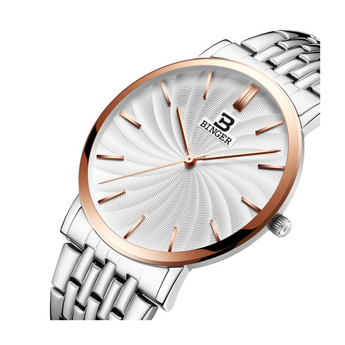 Đồng hồ nam Binger mặt xoay