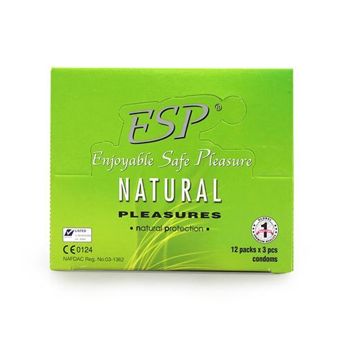 Combo 3 hộp Bao cao su loại trơn ESP Natural Pleasures