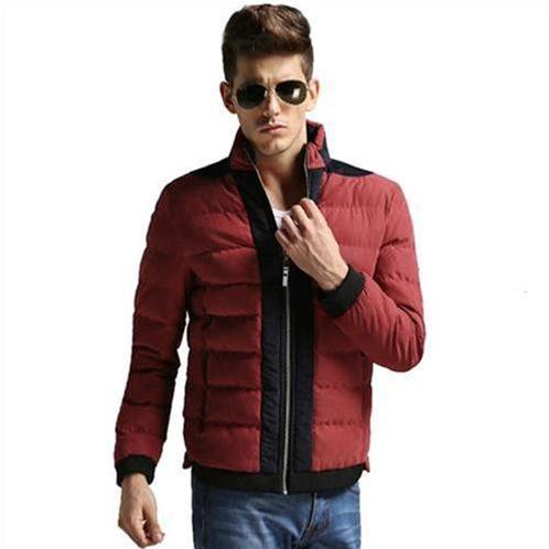 Áo khoác phao nam màu đỏ mận No1Dara