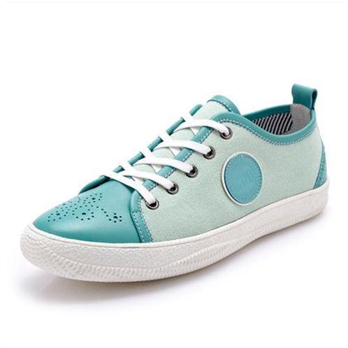 Giày da nam CDD 1256 giày vải đục lỗ