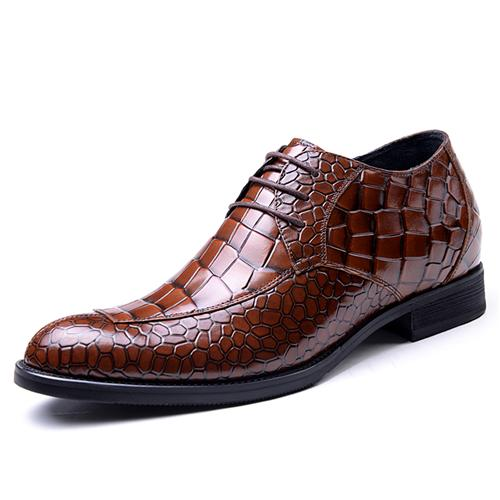 Giày tăng chiều cao nam vân cá sấu GOG CP042429