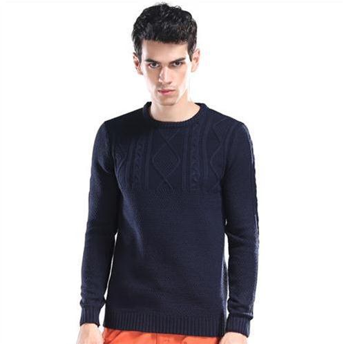 Áo len nam dệt hoa văn nổi No1Dara