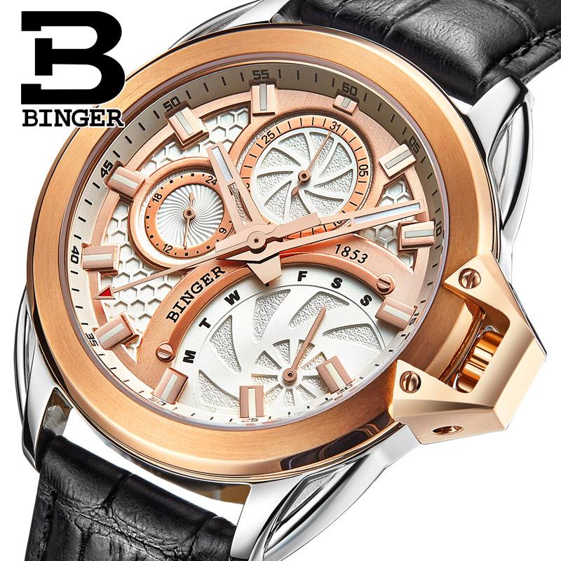 Đồng hồ nam Binger bánh xe tốc độ