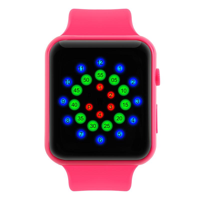 Đồng hồ điện tử Skmei mặt vòng cung đa sắc màu