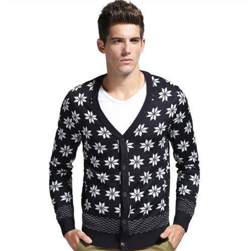 Áo len cardigan nam in họa tiết No1Dara