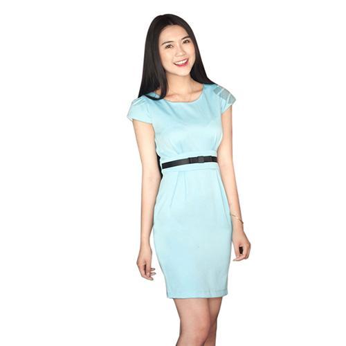 Đầm pastel phối nơ eo Aiko