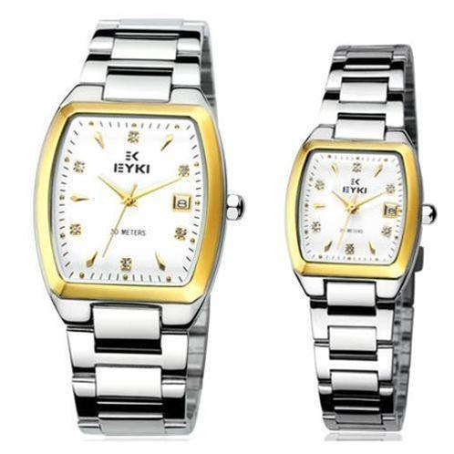 Đồng hồ đôi Eyki EETS8591 mặt vuông thời trang