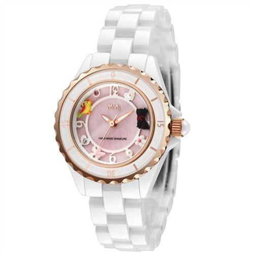 Đồng hồ nữ Mini MN1095 dây gốm chất lượng cao cấp