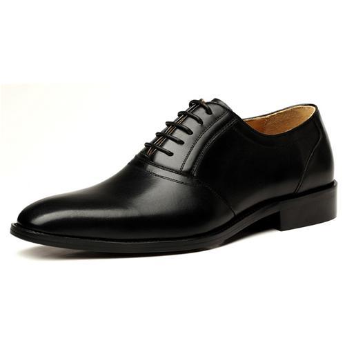 Giày da nam VANGOSEDUN VG78805 mũi nhọn, dây tròn