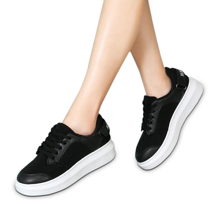 Giày da thể thao nữ đế bánh mì Wadnaso