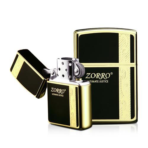 Bật lửa mạ vàng 24K Zorro Z9610A