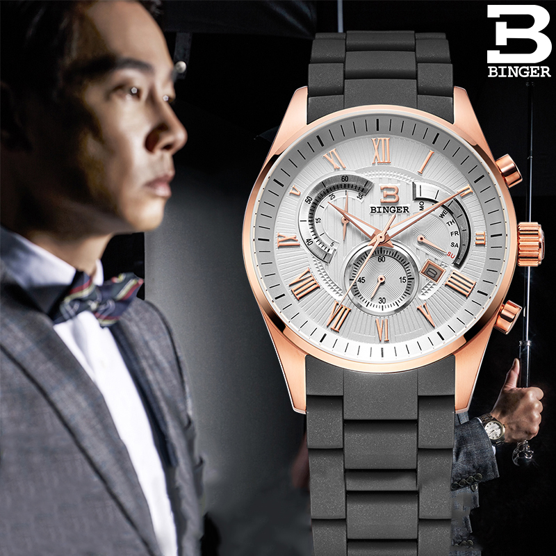 Đồng hồ thời trang nam 6 kim Binger