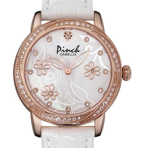 Đồng hồ nữ Pinch L9507-P08L họa tiết hoa