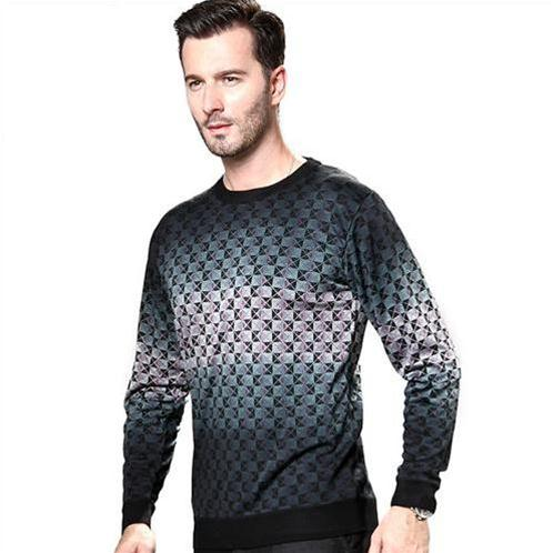 Áo len nam dài tay NLeidun in họa tiết 3D