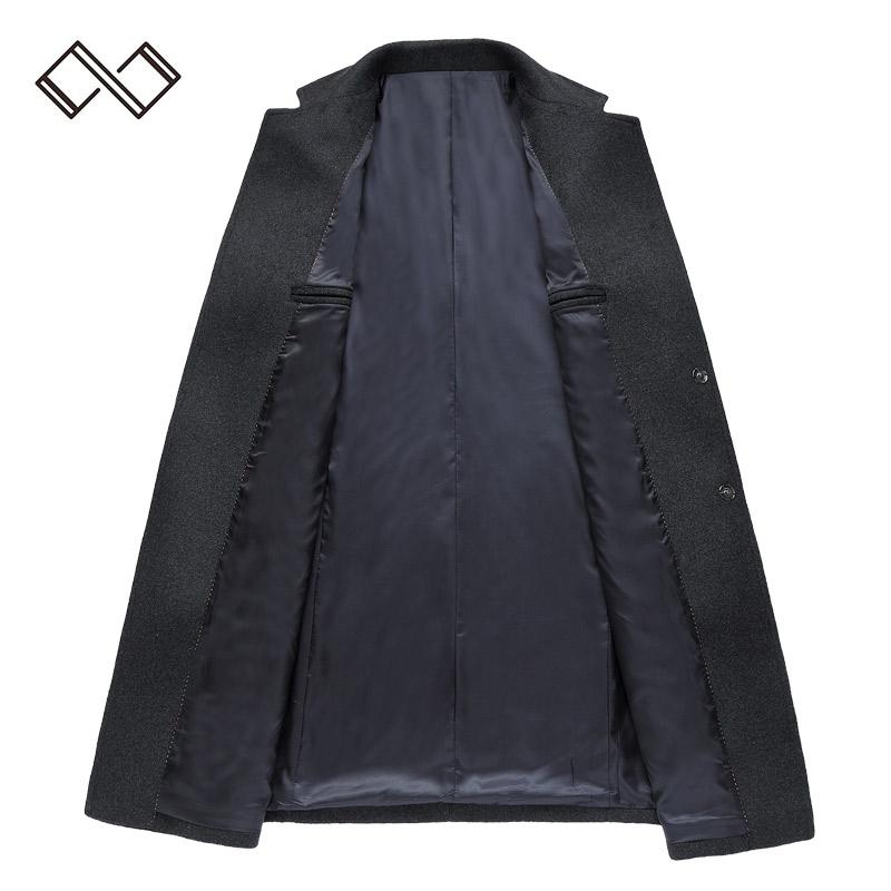 Áo khoác dạ lông cừu dáng dài khuy bấm Kadapo