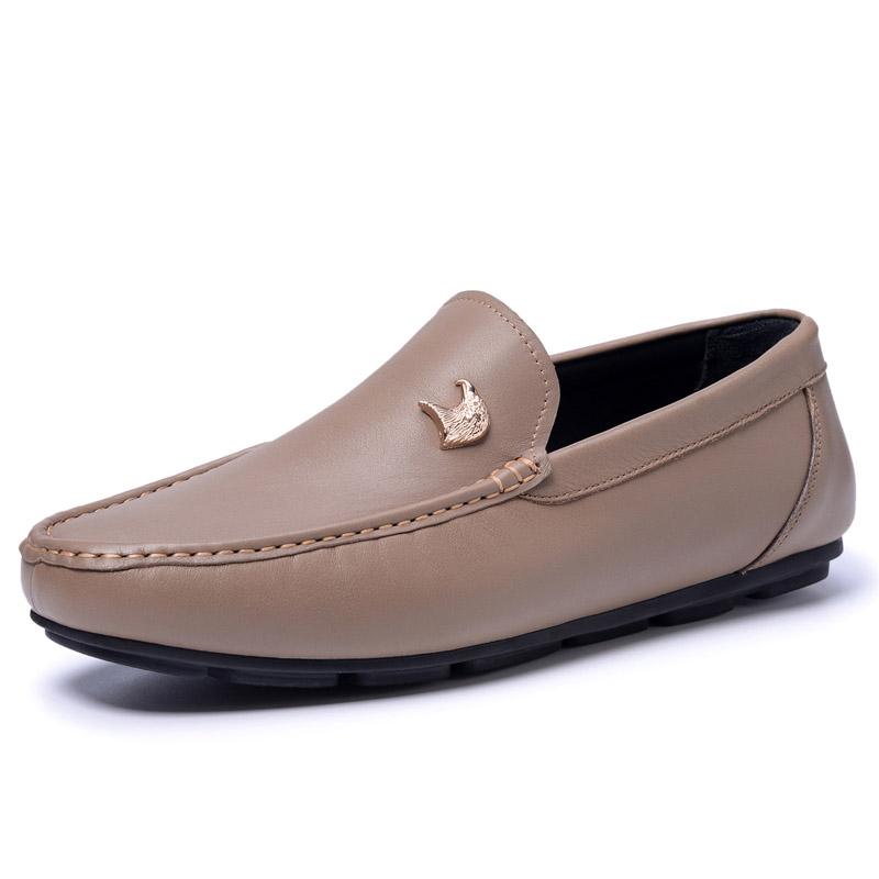 Giày mọi nam da trơn Vangosedun đính ngũ kim