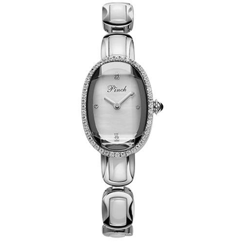 Đồng hồ lắc tay đính pha lê Pinch J7001A-P07 mặt Oval