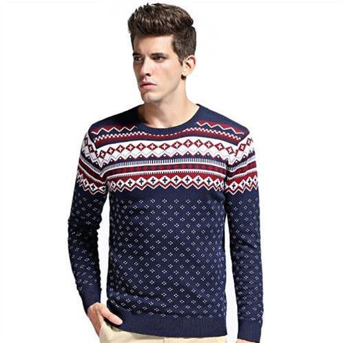 Áo len nam họa tiết phối màu No1Dara
