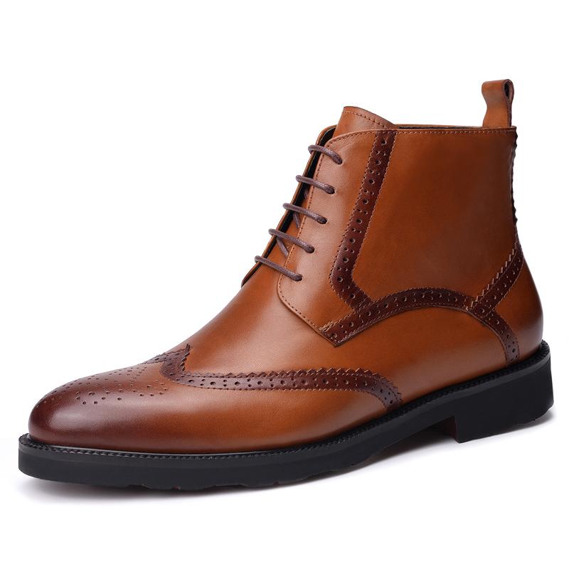 Boots nam cổ thấp chạm lỗ hoa văn Vangosedun