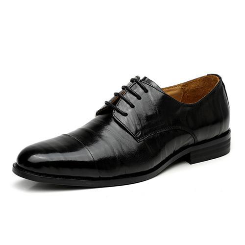 Giày da nam VANGOSEDUN L10H3A37 họa tiết da nhăn