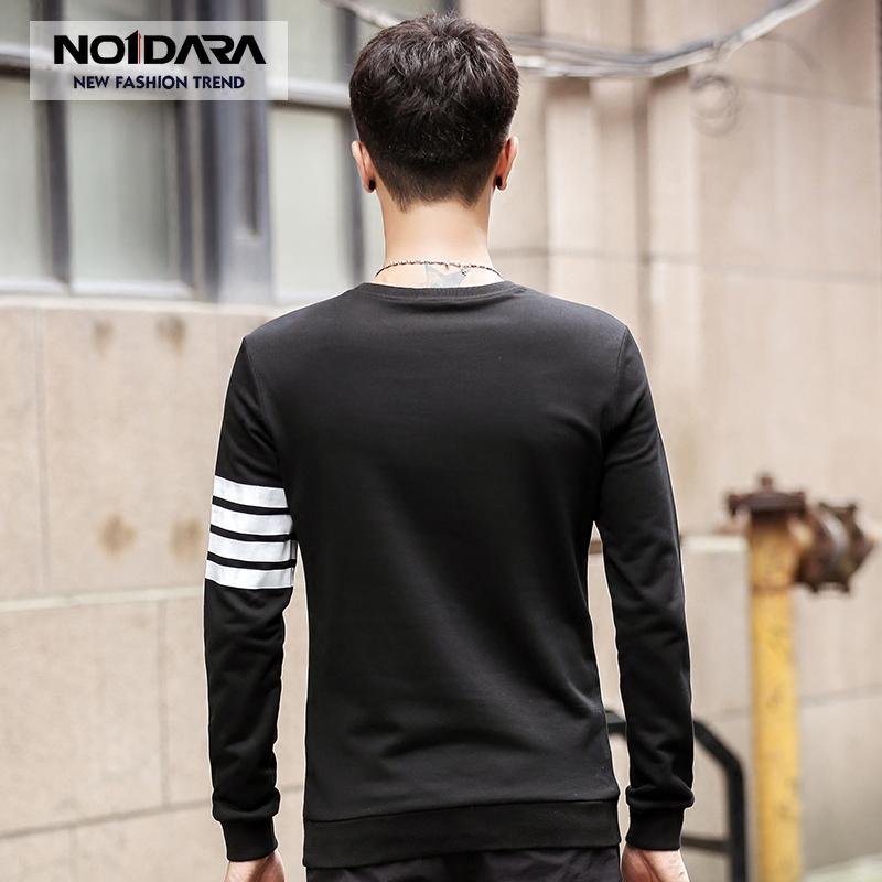 Áo T-shirt nam dài tay No1dara phối sọc ngang tay áo