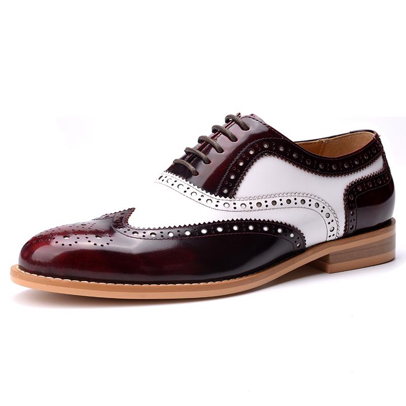 Giày da nam Vangosedun khắc ren cổ điển