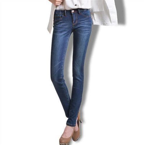 Quần Jeans nữ Bulkish ống côn cạp chun