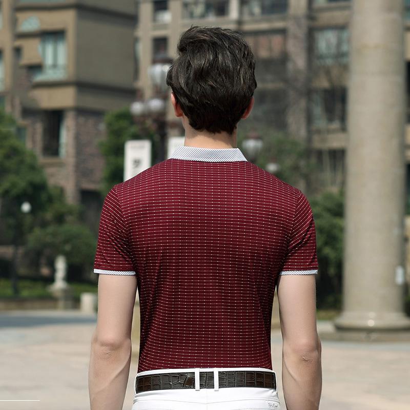 Áo T-shirt nam Sunsus kẻ ngắn tay