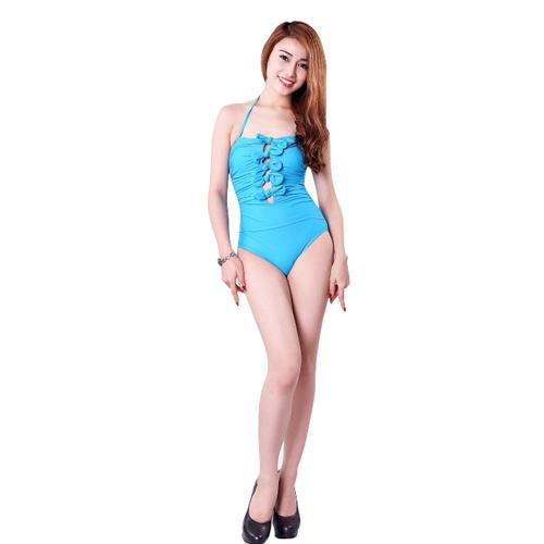 Bộ đồ bơi nữ liền thân Hương Điệp cách điệu nơ bướm