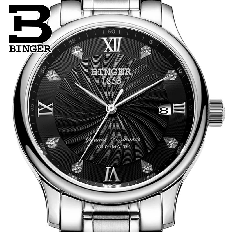 Đồng hồ hiệu nam máy cơ tự động Binger