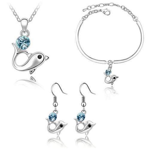 Bộ trang sức cá heo -  tôn vẻ đẹp hồn nhiên cho bạn gái