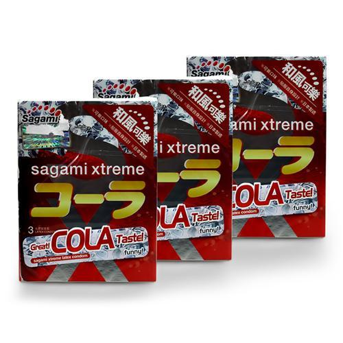 Combo 3 hộp Bao cao su Sagami Xtreme vị cola